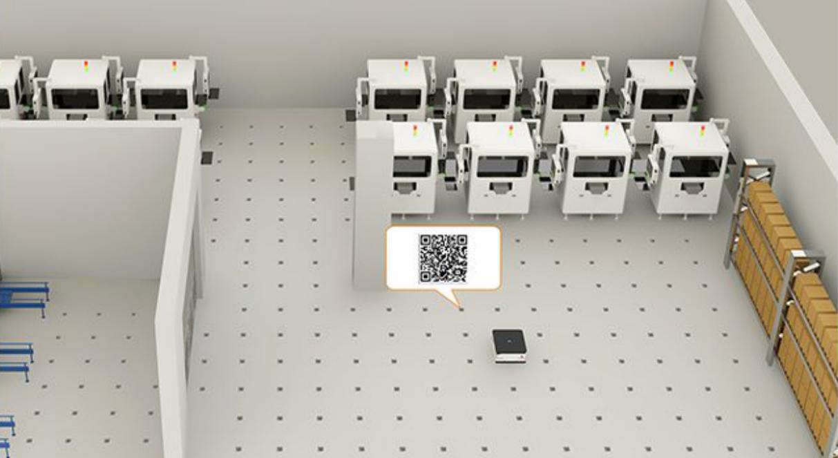 二维码AGV导航,AGV,AGV小车,叉车AGV,无人叉车,惯性二维码导航也叫二维码视觉导航AGV,二维码定位导航技术和运动控制技术门槛不高。他的工作原理是二维码AGV导航通过控制根据二维码传感器的扫描获取到地面铺设的二维码图像坐标系中的位置;把采集到的二维码图像坐标位置信息传送给AGV控制器,