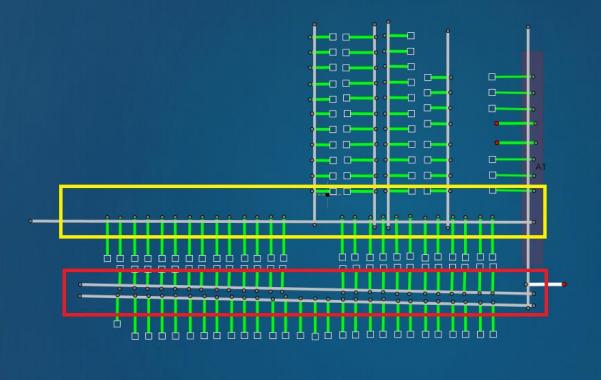 AGV车载系统坐标系原点和方向如何选定!应遵循如下规则:1、原点位置尽量在整个场地中心;2、坐标系方向尽量和场地方向平行;3、坐标系方向,尽量做到左右方向宽,上下方向窄;4、原点位置可以扫描到尽量多的反光柱