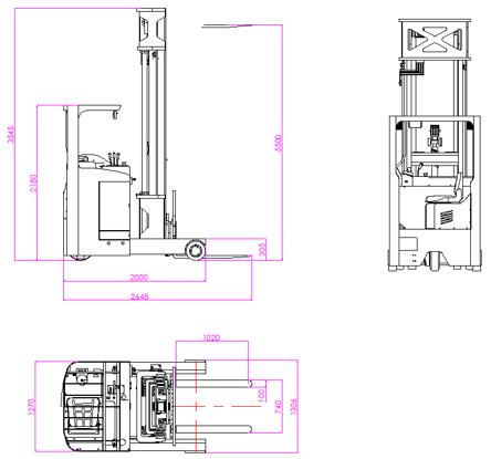 大前移式无人叉车AGV(LQ200)车体介绍;1车体类型、大前移式无人叉车AGV(LQ200)2、导航方式:激光AGV导航;3、额定载重:2000kg;4、举升高度:5500mm; 5、定位精度:±10mm;